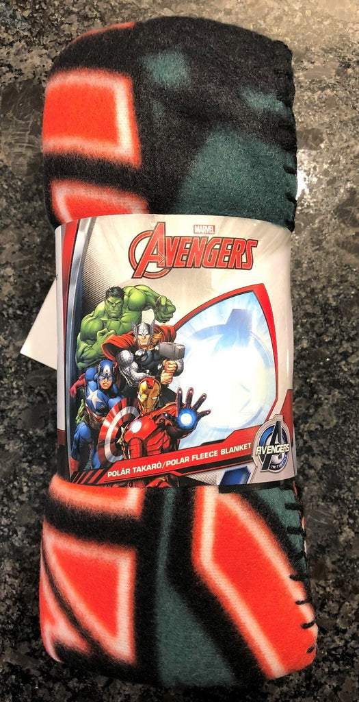 New Official Boys Marvel Avengers Blanket Large Size Soft Feel 100x150cms - Christmas Gift
