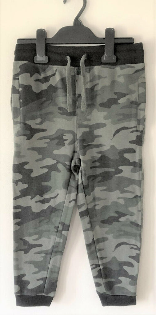 New Grey Camoflage Tracksuit Bottoms Jog Pants - Exstore Minoti - Ages 3-8 Years
