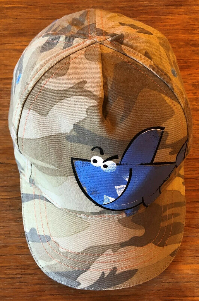 New Boys Baseball Cap - Exstore Next - Camo Shark - 100% Cotton - 3-6Yrs