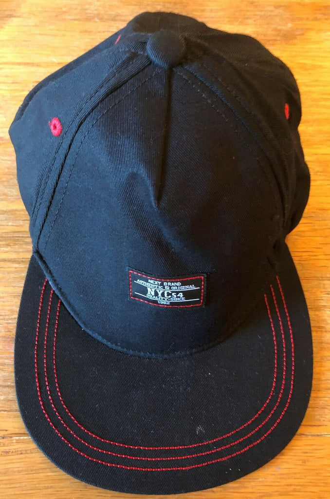 New Boys Summer Baseball Cap - Exstore Next - Blue Red Stitch - 100% Cotton - 11-13 Yrs