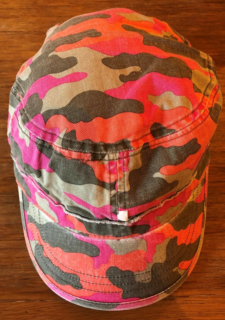 New Boys Summer Fisherman Style Cap - Exstore Next - Pink Orange - 100% Cotton - 11-13Y