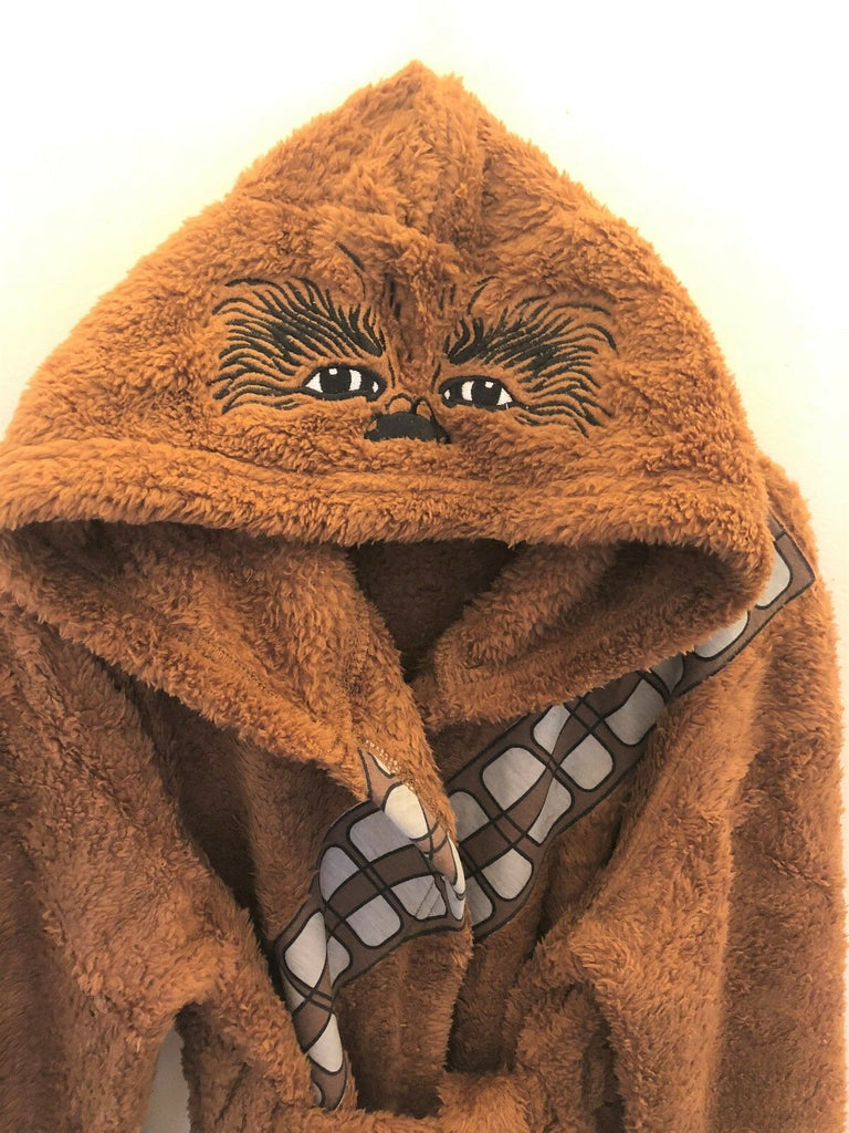New Kids Star Wars Chewbacca Dressing Gown Christmas - Exstore Avon - Sizes 8/9 Yrs