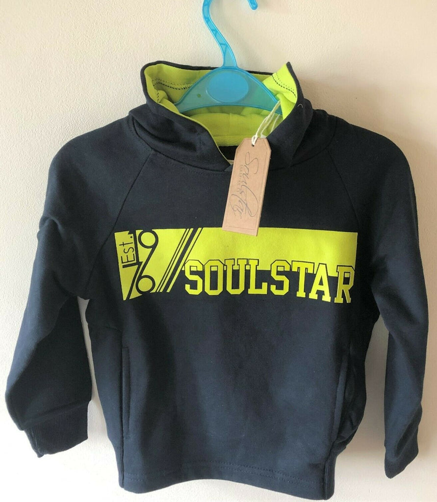 New Soul Star Boys Est.1976 Hoodie Cider & Navy - Exstore - Ages 2 4 6 8 Years