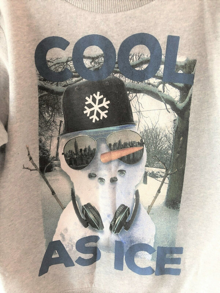 "New Boys Christmas Snowman Sweater ""Cool As Ice"" - Exstore George - Sizes 5-6 Years"