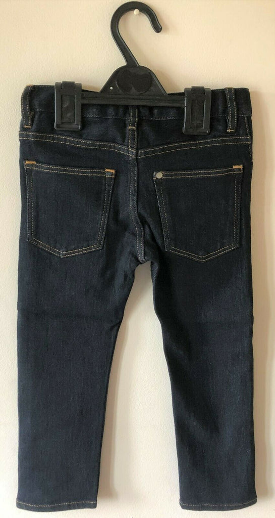 New Boys Jeans Dark Denim Blue Slim Fit - Adjustable Waist - Exstore - Ages 2-8 Years