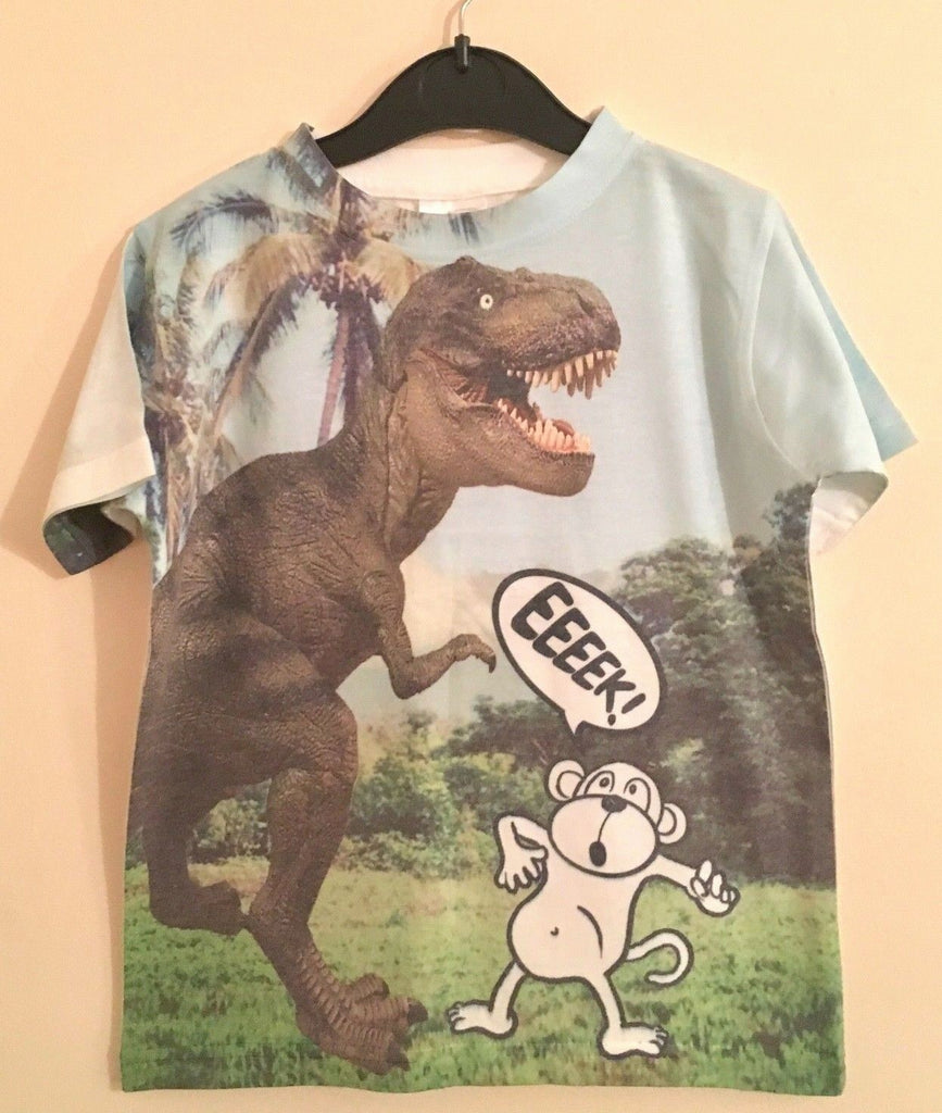 New Boys Dino Monkey Eeeek! Tshirt - Exstore Urban Rascals - Size 5 6 Years