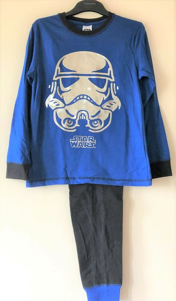 New Boys Disney Star Wars Foil Stormtrooper Pyjamas - Exstore Peacocks - Age 12-13 Y