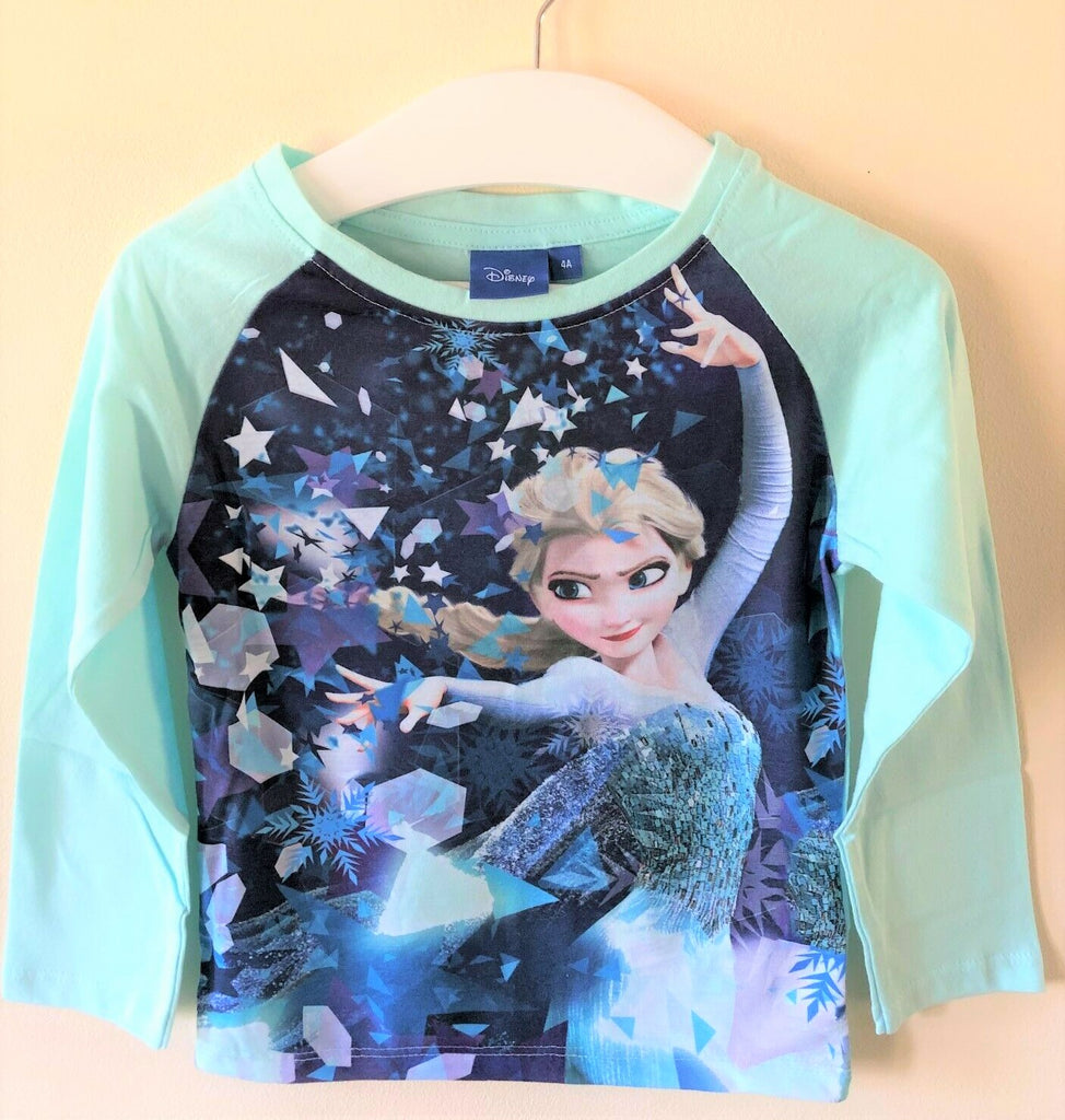 New Disney Frozen Princess Elsa Mint Green L/S Pyjamas - Official Exstore - Ages 3 4 5 8 Yrs