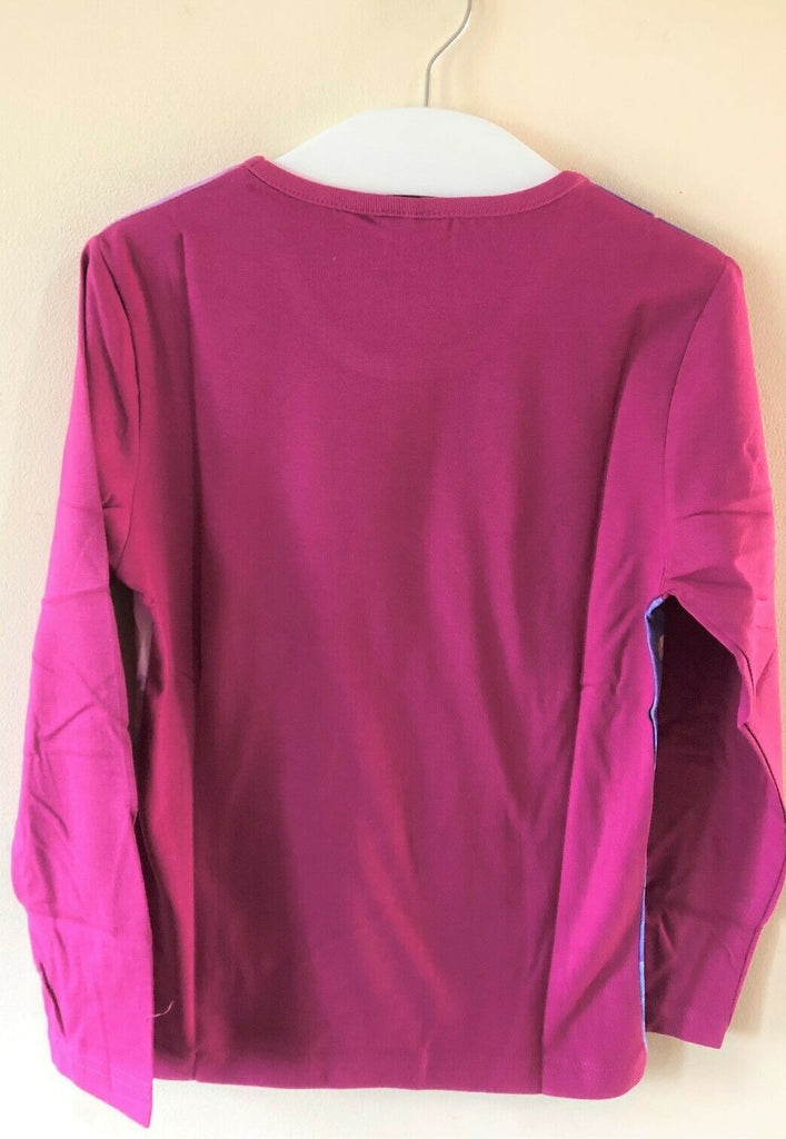 New Disney Girls Frozen L/S Plum Top - Official Exstore - Ages 4 5 6 8 10 Yrs