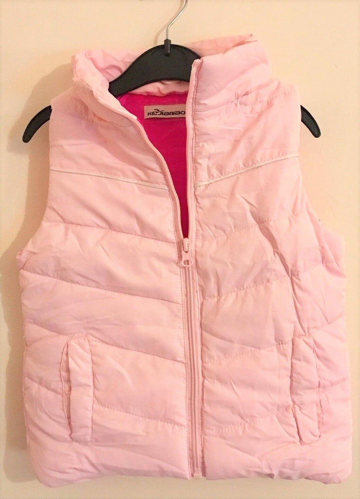 New Girls Puffa Style Mini Gilet Bodywarmer - Baby Pink Hot Pink - Exstore - Age 18/24