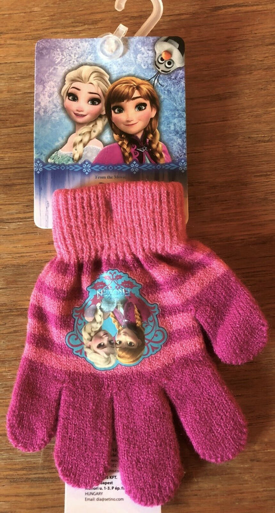 New Official Disney Frozen Girls Winter Knit Glove Colour 1 - Size 3-8 Y