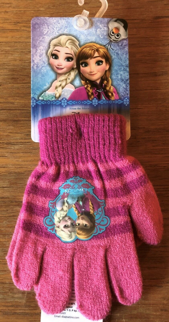 New Official Disney Frozen Girls Winter Knit Glove Colour 2 - Size 3-8 Y