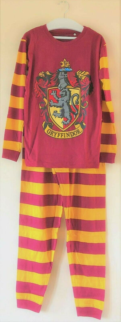 New Boys Girls Harry Potter Gryffindor Burgundy Pyjamas Set - Official Exstore - Sizes 7-11 Y