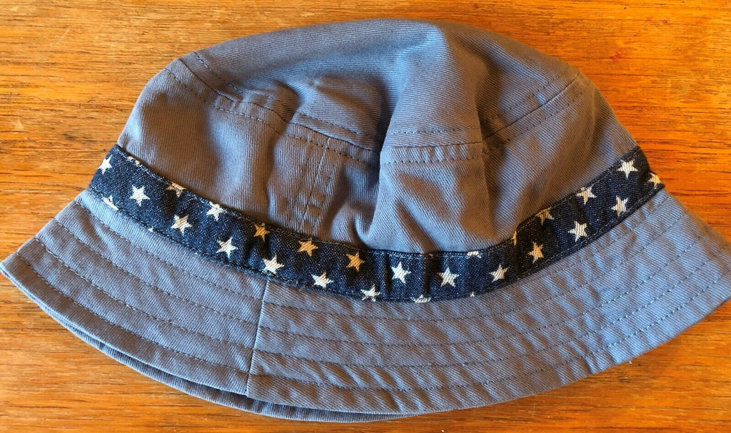 New Baby Boys Fisherman Sun Hat - Blue Stars - Exstore Next - 100% Cotton - 6-12 Months