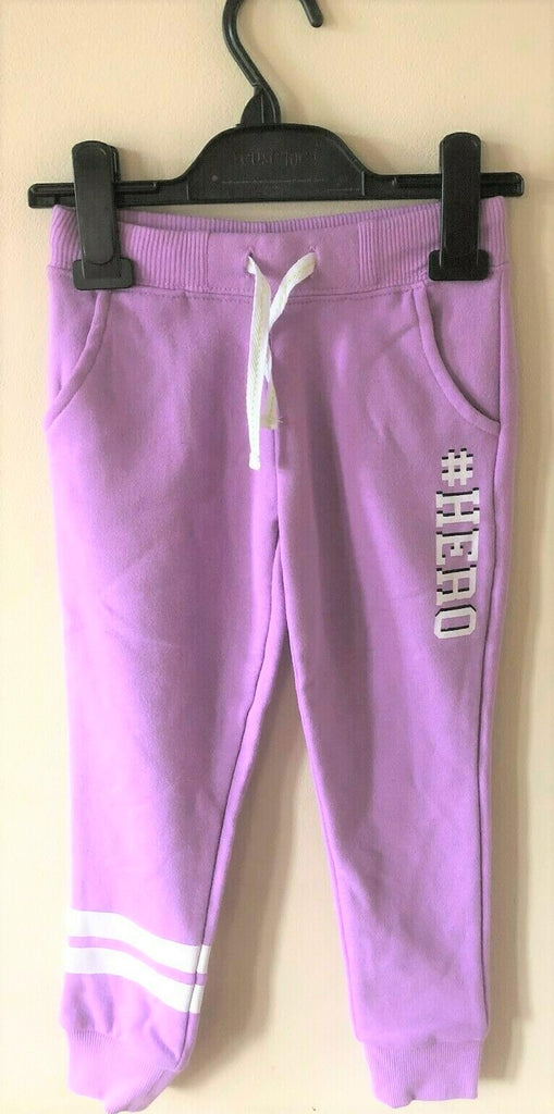 New Girls #Hero Lilac Tracksuit Jogging Bottoms - Exstore Young Dimension - Size 4/5 Yrs