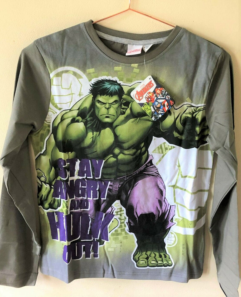 New Boys Marvel Avengers The Hulk Pyjamas Set - 100% Cotton - Sizes 7-11 Yrs