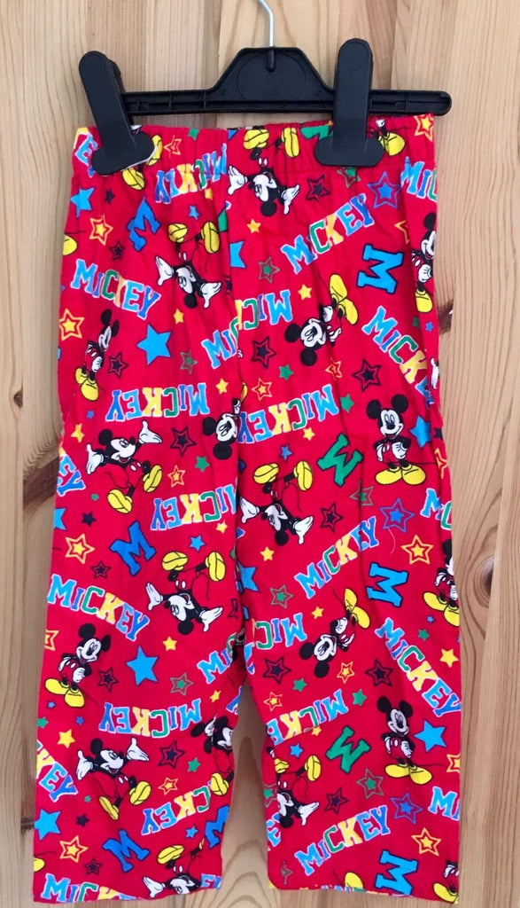 New Baby Boys Pyjama Bottoms Mickey Mouse - Exstore Disney - Size 18-24 Months