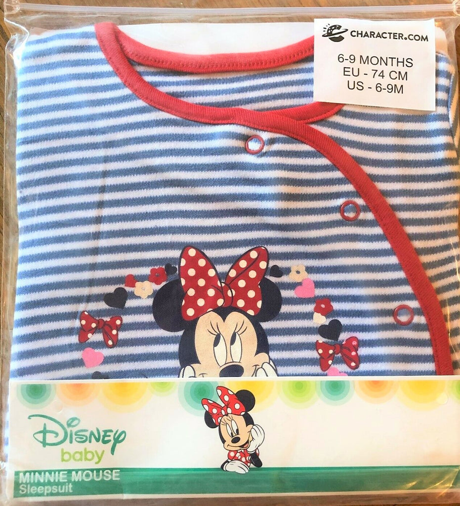 New Disney Baby Minnie Mouse Babygrow Sealed Gift 100% Cotton -  Official Exstore - 0-18 M