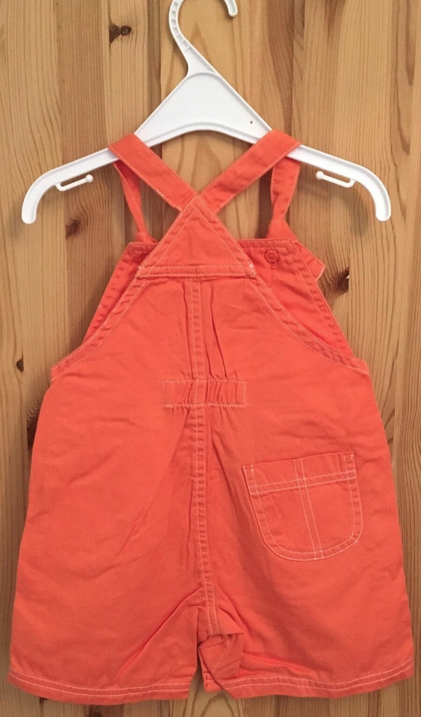 New Baby Girls Orange Dungarees - Exstore Mothercare - Ages 3-18 Months