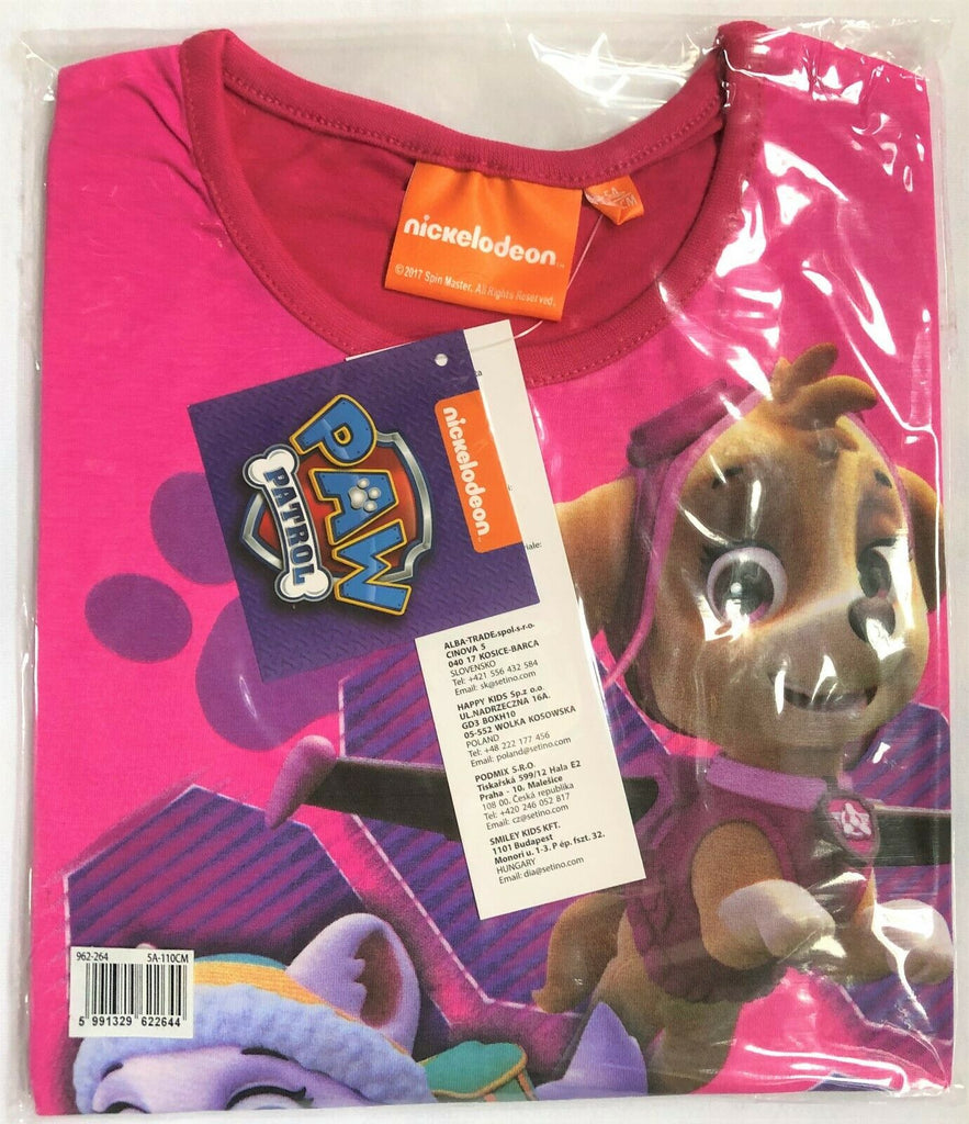 New Girls PAW Patrol Skye Long Sleeved Top Pink - Official Exstore - Sizes 3 4 6 Y