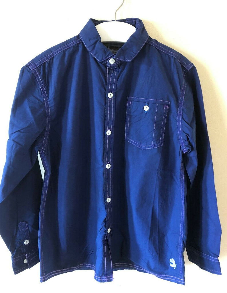 New Boys Authentic Workwear Casual Blue Shirt - Exstore Next - 100% Cotton Age 8 Years