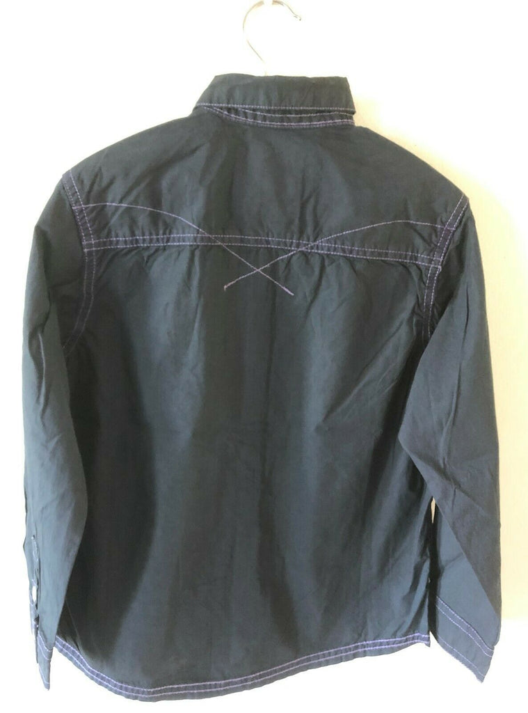 New Boys Authentic Workwear Casual Black Shirt - Exstore Next - 100% Cotton Age 13 14 15 Years