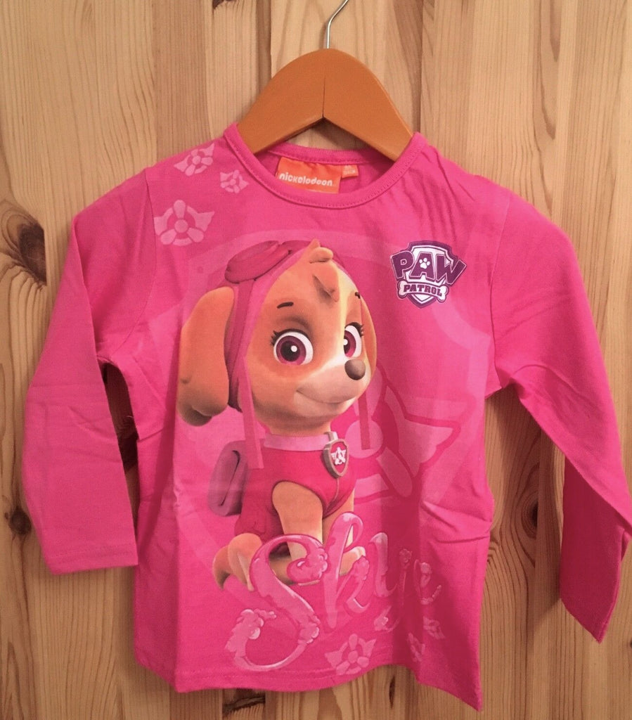 New Girls Paw Patrol Skye Long Sleeved Top Bagged - Official Exstore - Size 6 Yrs