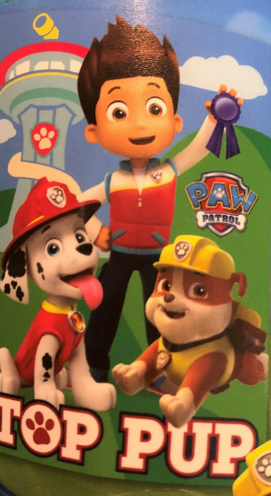 New Official Boys Paw Patrol Top Pup Soft Fleece Blanket - 150 x 100cm - Christmas Gift