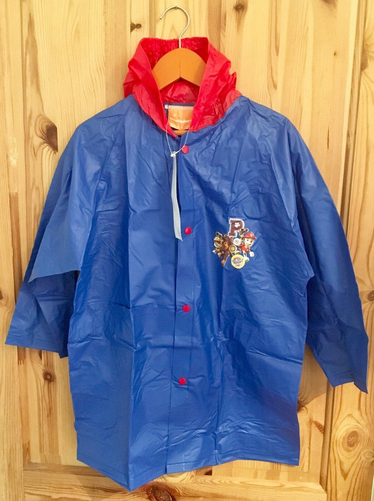New Boys Hooded Raincoat Paw Patrol Top Pups 100% PVC Blue Sizes 3 & 8 Years