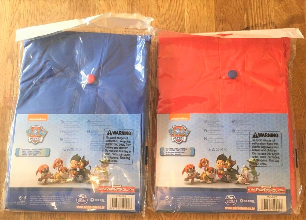 New Boys Hooded Raincoat Paw Patrol Top Pups 100% PVC Red Sizes 3 & 8 Years