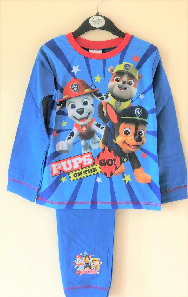 "New Boys Paw Patrol ""Pups On The Go Hereos!"" Pyjamas Set L/S - Official Exstore - 4/5 Yrs"