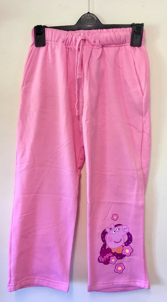 New Girls Peppa Pig Fleece Lounge Pants / Tracksuit Bottoms - Official Exstore - Ages 3-8 Yr