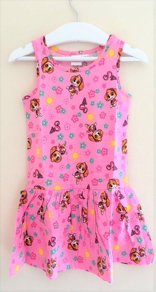 New Baby Girls Paw Patrol Skye Dress Pink -  Exstore Phonicons - Age 12/24 Months
