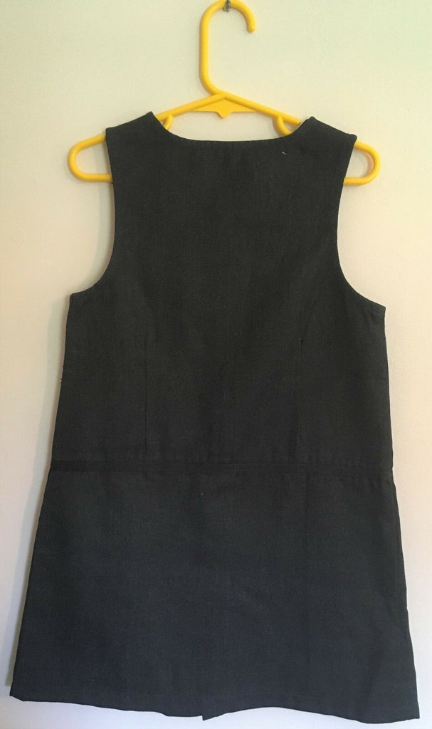 New Girls Grey School Pinafore Dress - Exstore Morrisons Nutmeg - Ages 10-11 Years