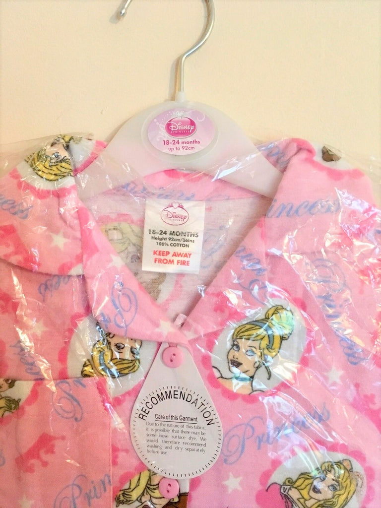 New Baby Girls Soft Princess Pyjamas - Exstore Disney - 100% Cotton - Size 18-24 Months