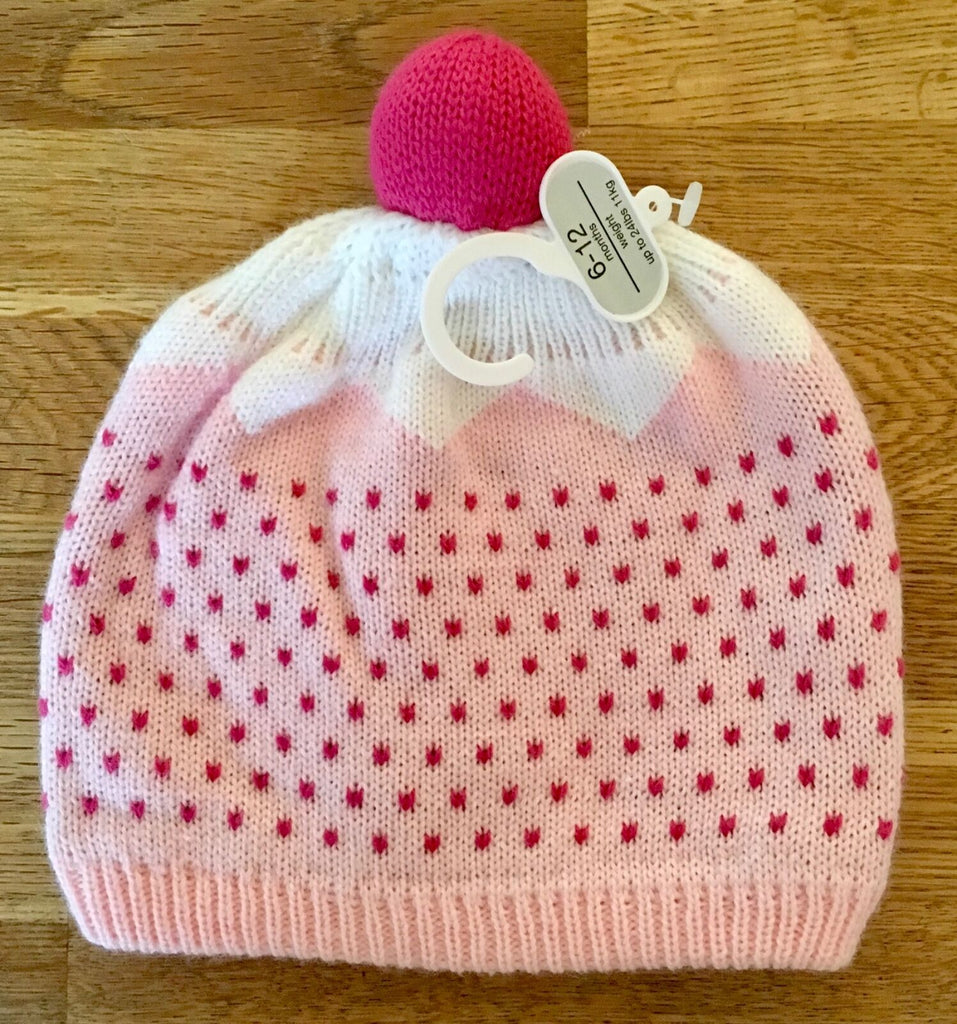 Baby Girls Christmas Pudding Hat - New Exstore Mothercare - Sizes 6-12 Months