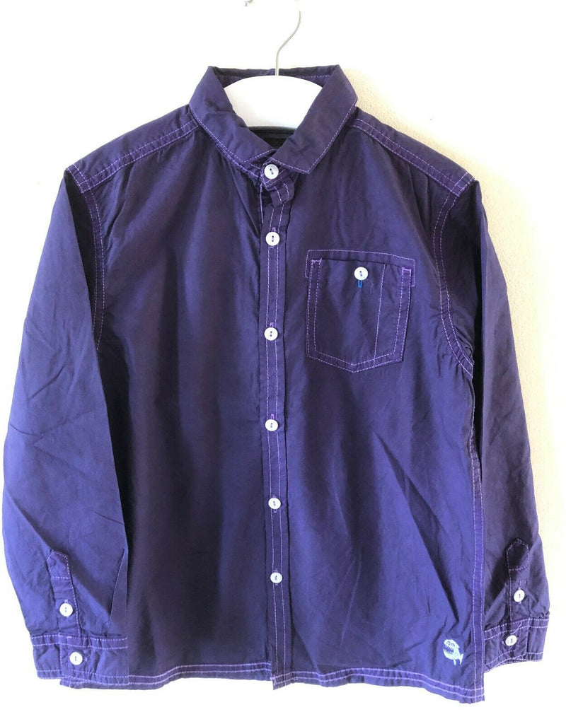 New Boys Authentic Workwear Casual Purple Shirt - Exstore Next - 100% Cotton Age 5 Years