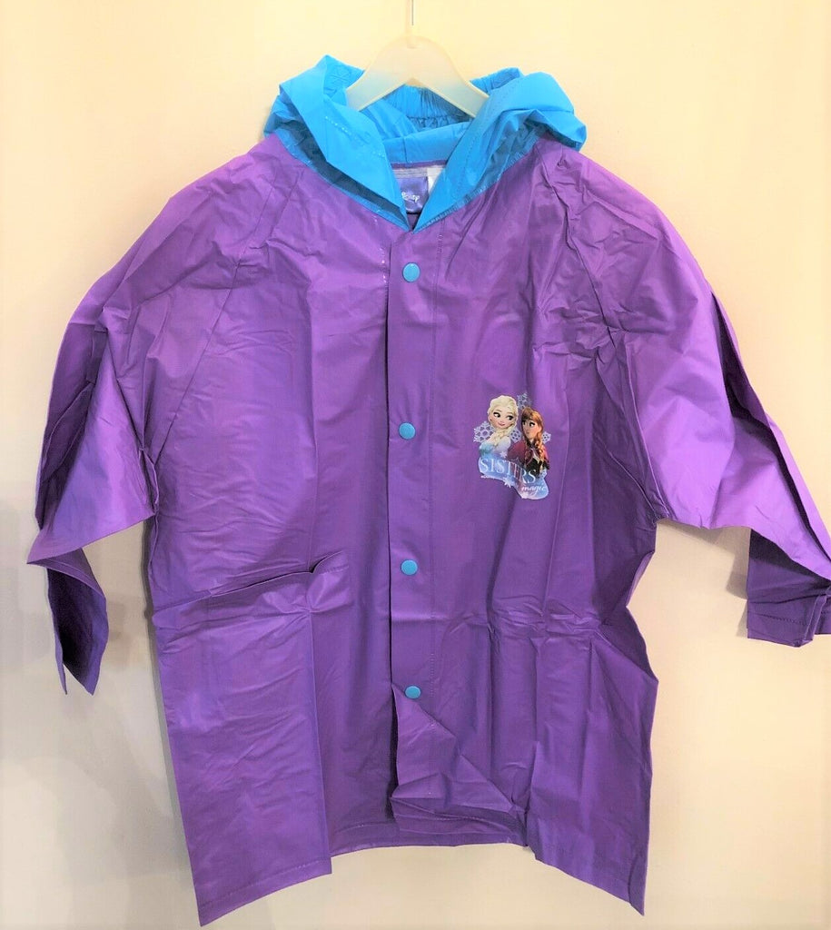 New Disney Frozen Lightweight Raincoat -  Official Exstore - 100% PVC 2 Colours - Size 4 7 10 Years