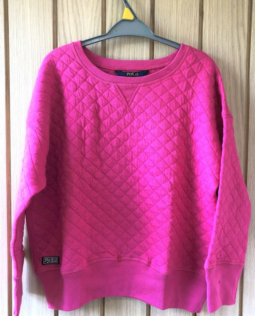 New Girls Official Ralph Lauren Jumper - Exstore - Hot Pink - Size 14-15 Years
