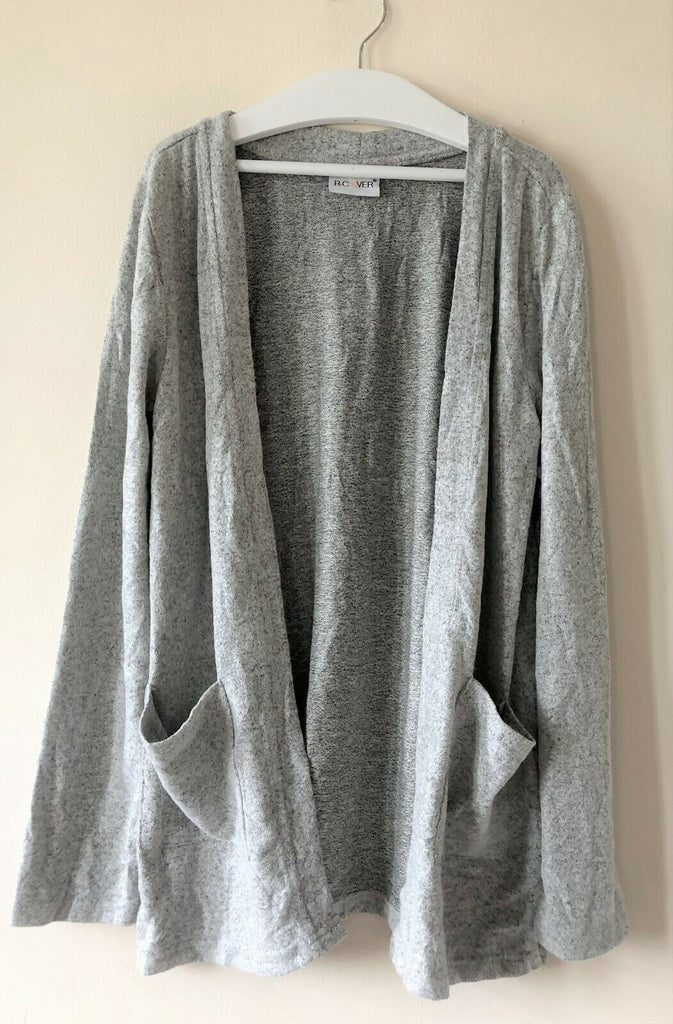 New Girls Soft Feel Cardigan - Open Pocket Grey - Exstore R-Cover - Ages 9-10 Years