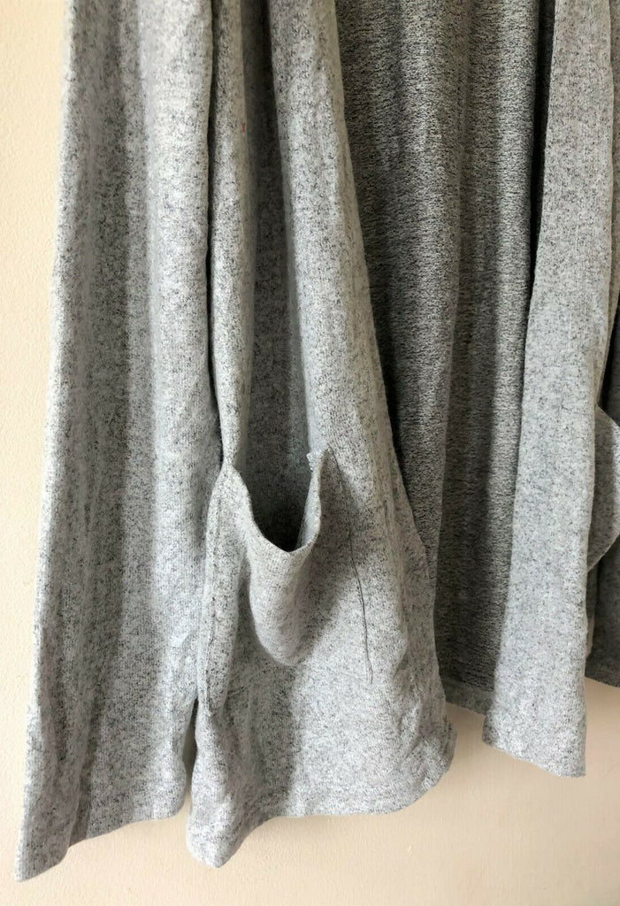 New Girls Soft Feel Cardigan - Open Pocket Grey - Exstore R-Cover - Ages 11-12 Years