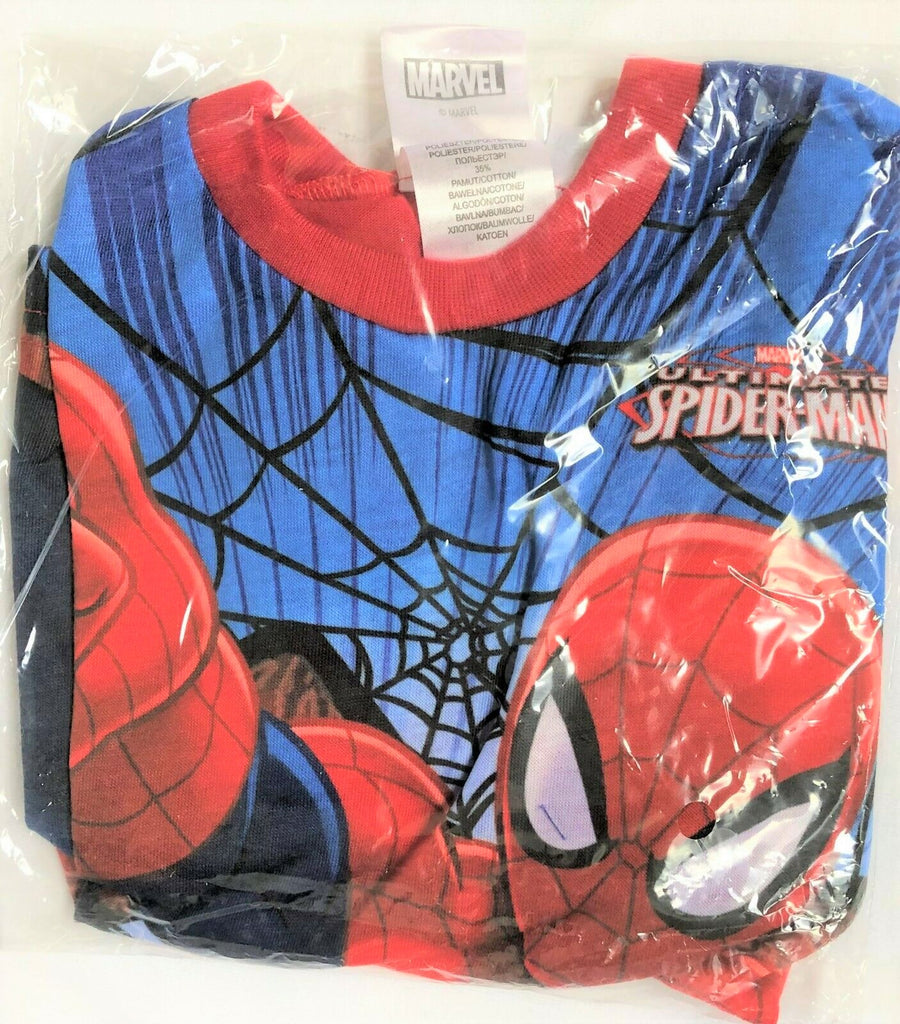 New Official Marvel Spiderman Boys Red Long Sleeved Top Ages 3-8 Yrs