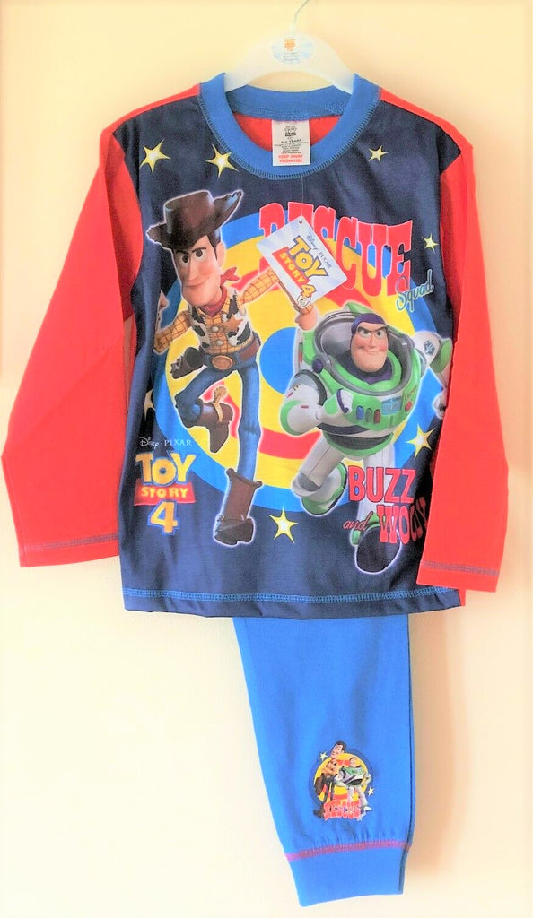 New Disney Toy Story 4 Boys Rescue Squad Pyjama Set - Official Exstore - Ages 4-5, 5-6, & 7-8Y