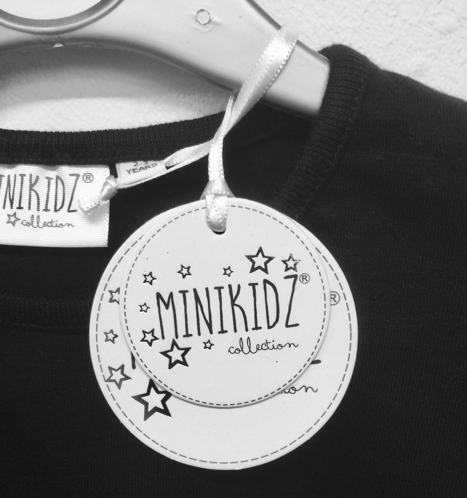 "New Girls Christmas Top - Exstore Minikidz ""Beautiful & Bright"" - Navy Blue -  Age 2-4 Years"