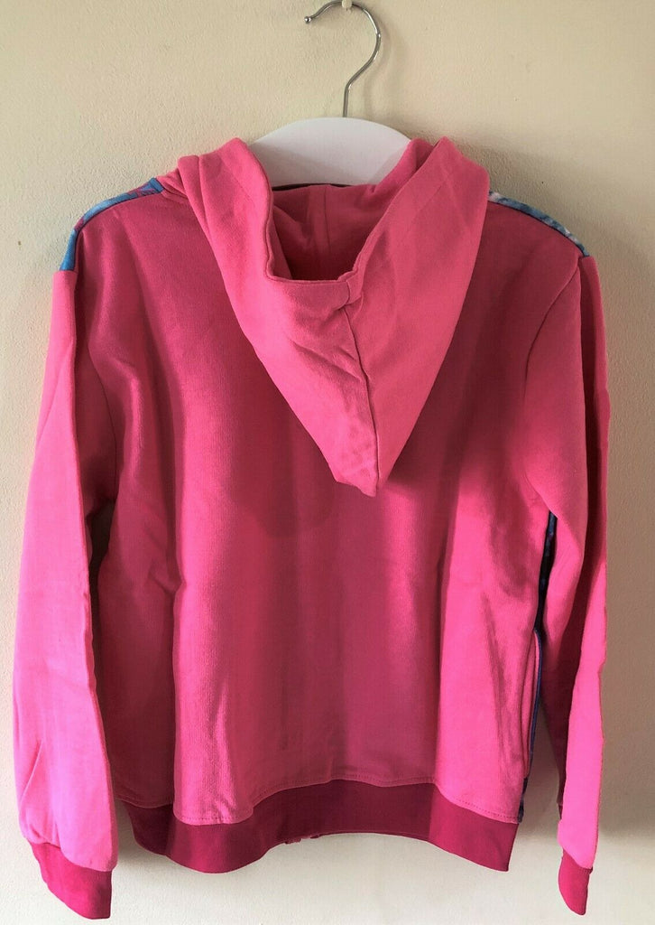 New Girls Frozen Zip Through Hoodie - Official Disney Pink - Sizes 4-8 Yrs