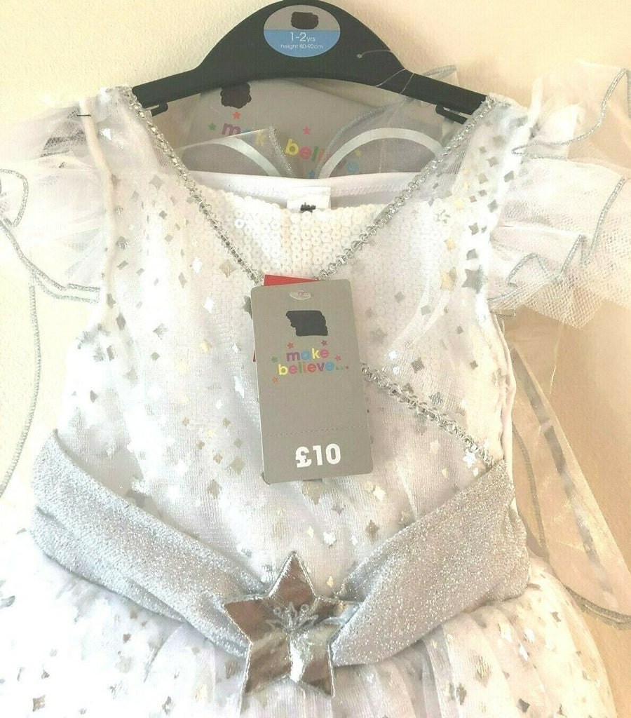 New Christmas Girls Angel Fancy Dress 3 Pc - Exstore TU Sainsburys - 12-24 Months