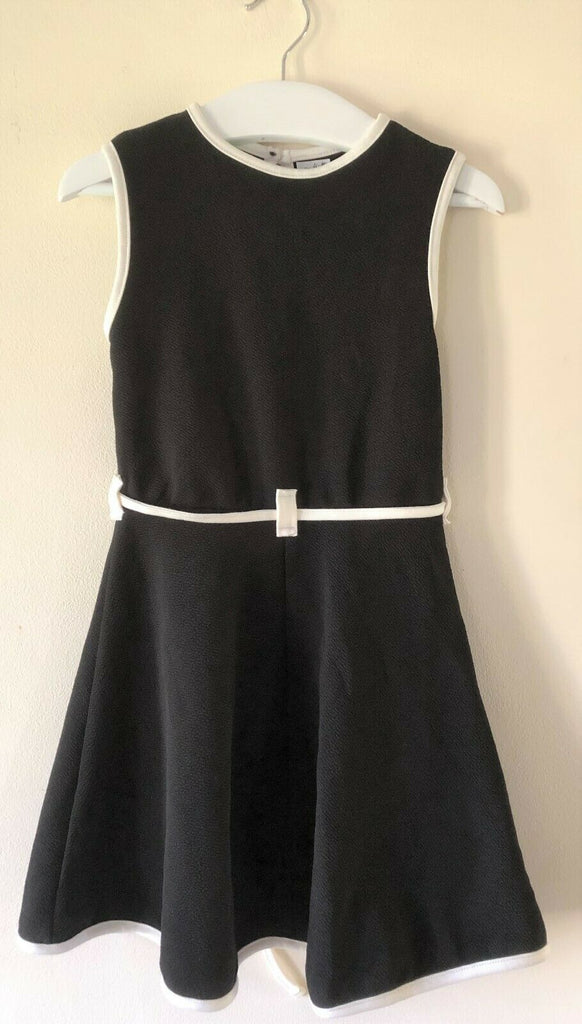 New Girls Skater Dress Black Piping Contrast - Exstore Highstreet - Age 4-7 Yrs