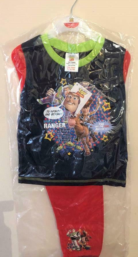 New Boys Disney Toy Story 4 Pyjamas Set Space Ranger - Official Exstore - Ages 2-5 Yrs