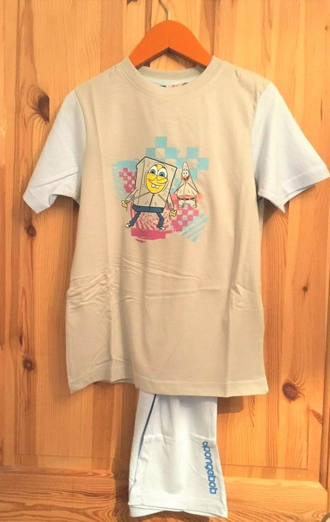 New Boys Pyjama Set Spongebob Squarepants - 100% Cotton - Size 10/12 Years