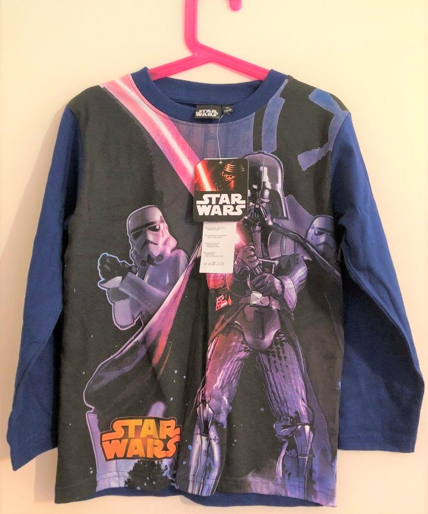 New Boys Star Wars Darth Vader Top - Long Sleeved - Exstore - Age 4 & 6 Years